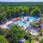 Camping Lou Pignada overzicht zwembad complex