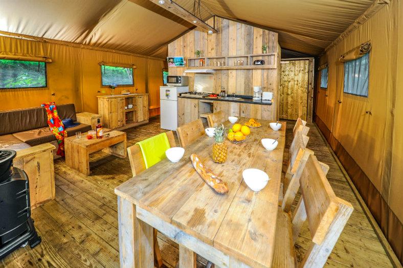 Ecoluxe Lodge Vieux Port 5P Wohnzimmer