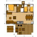 Luxury Lodge 40 met bar aan keuken en zithoek binnen