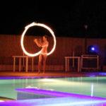 animatie bij zwembad op camping Pian di Boccio