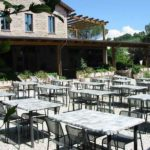 restaurant, terras buiten Pian di Boccio
