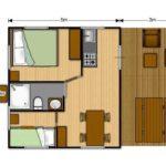 Camping Bellevue - WOODY 27 interieur