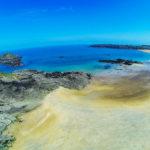 Camping des Chevrets direct aan zee -prachtig strand vanuit de lucht