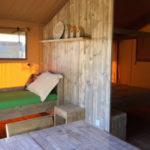 Safarizelt 3 Personen Sainte Suzanne Wohnzimmer