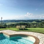 uitzicht bij zwembad L'Antica Fornace