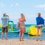 Speeltoestel in zee op Park Umag in Istrie