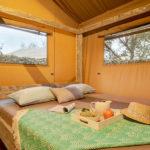 Domaine du Verdon safaritent slaapkamer voor 2 personen