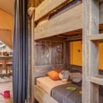 Domaine du Verdon Safarizelt Schlafzimmer mit Etagenbett