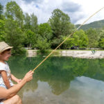 Domaine du Verdon, vissen in de vijver