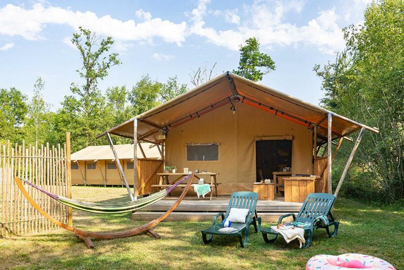 Les Alicourts Safaritent 5 personen