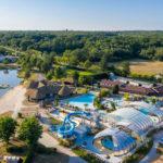 Les Alicourts luchtfoto zwembaden en meer