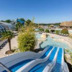 Les Alicourts zwembad met glijbaan