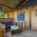 Tenuta Regina Lodge tent overdekt terras