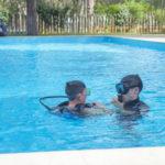 Punta Milà duikles in het zwembad