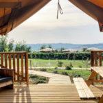 L'Antica Fornace uitzicht vanuit de safaritent