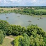 Luchtfoto van Village Flottant de Pressac