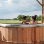 Scandinavisch bad op Village Flottant de Pressac