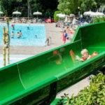 La Rocca- Van de glijbaan in het zwembad