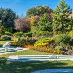 Minigolf in mooie tuin