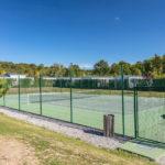 Tennisbaan van de camping