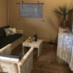 Woonkamer van Luxury Lodge