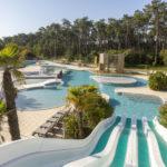 Glijbaan en zwembaden van Soulac Plage