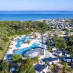 Overzicht zwembaden en omgeving van Soulac Plage
