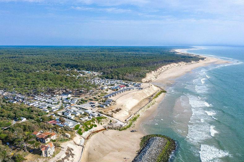 Luchtfoto van Soulac Plage en omgeving