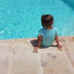 Bij het zwembad van La Viola e il Sole