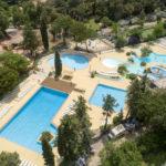 Luchtfoto zwembaden Le Plein Air des Chênes