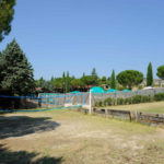 Volleybalveld op camping Pian di Boccio