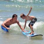 Surfen bij Soulac Plage