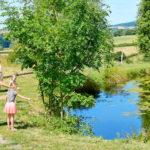 Village des Meuniers, Teich auf dem Campingplatz