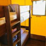 Coucouzac, kinderslaapkamer safaritent 4 personen