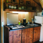 Coucouzac, keuken safaritent 4 personen