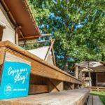 Luxe tent met sanitair op Watersportcamping Heeg