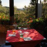 restaurant camping Blucamp met uitzicht