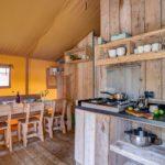 Keuken lodgetent - Les Deux Fontaines